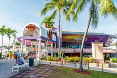Hard Rock Cafe on August 7, 2014 in Miami Stock Photo