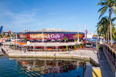 Hard Rock Cafe on August 7, 2014 in Miami Stock Images