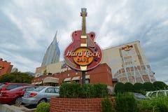 Hard Rock Cafe bei Broadway, Nashville, Tennessee stockfoto