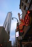 Hard Rock Cafe cerca del hotel de la plaza de Westin Peachtree Fotografía de archivo
