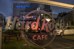 Hard Rock cafe. Curitiba, PR, Brazil, January 03, 2018. Facade of the restaurant Hard Rock cafe in the neighborhood of Batel, central region of Curitiba, Paran royalty free stock photography