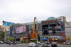 Hard Rock Cafe en Las Vegas en bulevar del LV fotografía de archivo