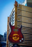 Hard Rock Cafe en Varsovia, Polonia fotos de archivo libres de regalías