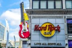 Hard Rock Cafe etablering på city för Toronto ` s Arkivfoto