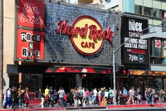Hard Rock Cafe Hollywood Fotografie Stock Libere da Diritti