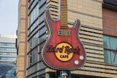 Hard Rock Cafe i Warsaw arkivbild
