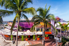 Hard Rock Cafe il 7 agosto 2014 a Miami Fotografia Stock Libera da Diritti