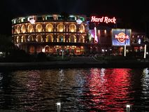 Hard Rock Cafe` located at Universal City in Orlando, Florida. Hard Rock Cafe` at Universal City Walk located in Orlando, Florida royalty free stock photos