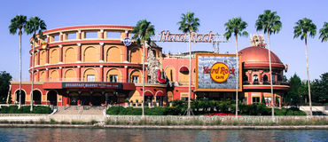 Hard Rock Cafe` located at Universal City in Orlando, Florida. Hard Rock Cafe` at Universal City Walk located in Orlando, Florida stock photos