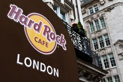 Hard Rock Cafe London Entrance Stock Photos