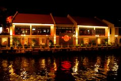 Hard Rock Cafe Melaka. Hard Rock Cafe alongside Melaka river Royalty Free Stock Photos