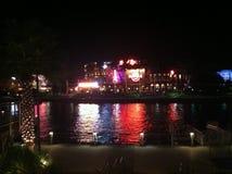Hard Rock Cafe a placé à la ville universelle à Orlando, la Floride Image libre de droits