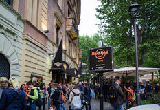 Hard Rock Cafe, Rome Stock Image