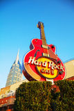 Hard Rock cafe sign in Nashville Stock Image