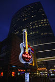 Hard Rock Cafe signboard in Warsaw Stock Photo