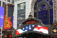 Hard Rock Cafe signs in New York Royalty Free Stock Images