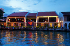 Hard Rock Cafe stad i Malacca Royaltyfri Fotografi
