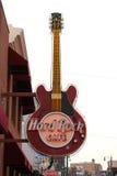 Hard Rock Cafe sur la rue Memphis, TN de Beale Images libres de droits