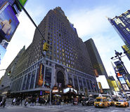 Hard Rock Cafe tider kvadrerar i Manhattan Arkivbild