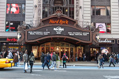 Hard Rock Cafe in Times Square. A shot of Hard Rock Cafe store in new york city, Times Square Royalty Free Stock Photography