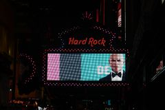 Hard Rock Cafe Times Square. New York Stock Photography