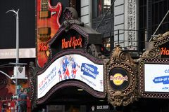 Hard Rock Cafe in Times Square royalty free stock image