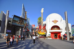 Hard Rock Cafe in Universal Hollywood stock photo