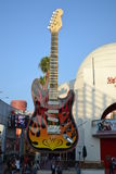 Hard Rock Cafe in Universal Hollywood. Detail of guitar Royalty Free Stock Photos