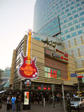 Hard Rock Cafe in Warsaw. stock image