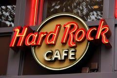 Hard- Rock Cafezeichen Stockbild