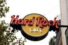 Hard- Rock Cafezeichen Stockfotos