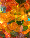 Hard rock candy in glass jar Royalty Free Stock Image