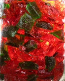 Hard rock candy in glass jar Stock Image