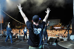 Hard rock concert Royalty Free Stock Images