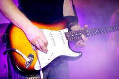 Hard rock concert. Hard rock musicians playing at a concert Royalty Free Stock Photo