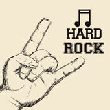 Hard Rock design Royalty Free Stock Photo