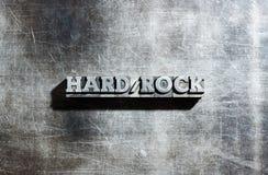 HARD ROCK en métal Photo stock
