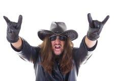 Hard rock fan Stock Photography