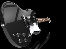 Hard Rock Guitar Black - Close Up Stock Images