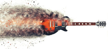 Hard Rock guitar - Particle FX Royalty Free Stock Photo