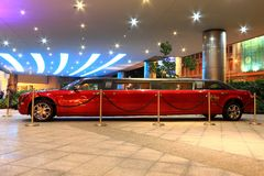 Hard Rock Hotel red limo at Macau Stock Photo