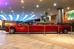 Hard Rock Hotel red limo at Macau Stock Photo