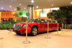 Hard Rock Hotel red limo at Macau Royalty Free Stock Photography