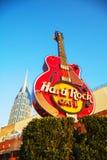 Hard Rock kawiarnia podpisuje wewnątrz Nashville obraz stock