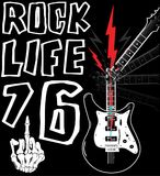 Hard Rock Music Poster. Fashion style Stock Image