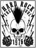 Hard Rock Music Poster. Fashion style Royalty Free Stock Photos