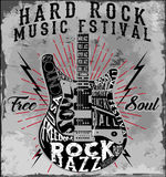 Hard Rock Music Poster. Fashion style Stock Photo