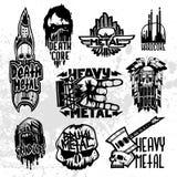 Hard Rock-Musik-Ausweisvektorsatz Stockfoto