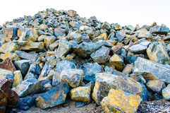 Hard rock pile Royalty Free Stock Photography
