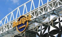 Hard Rock Stadium. MIAMI GARDENS, FLORIDA, USA - MARCH 27, 2019:  Hard Rock Stadium sign, the Hard Rock will be the venue for the 54th Super Bowl stock photography